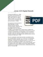 Lexicon 224 Digital Reverb (Mix Magazine)