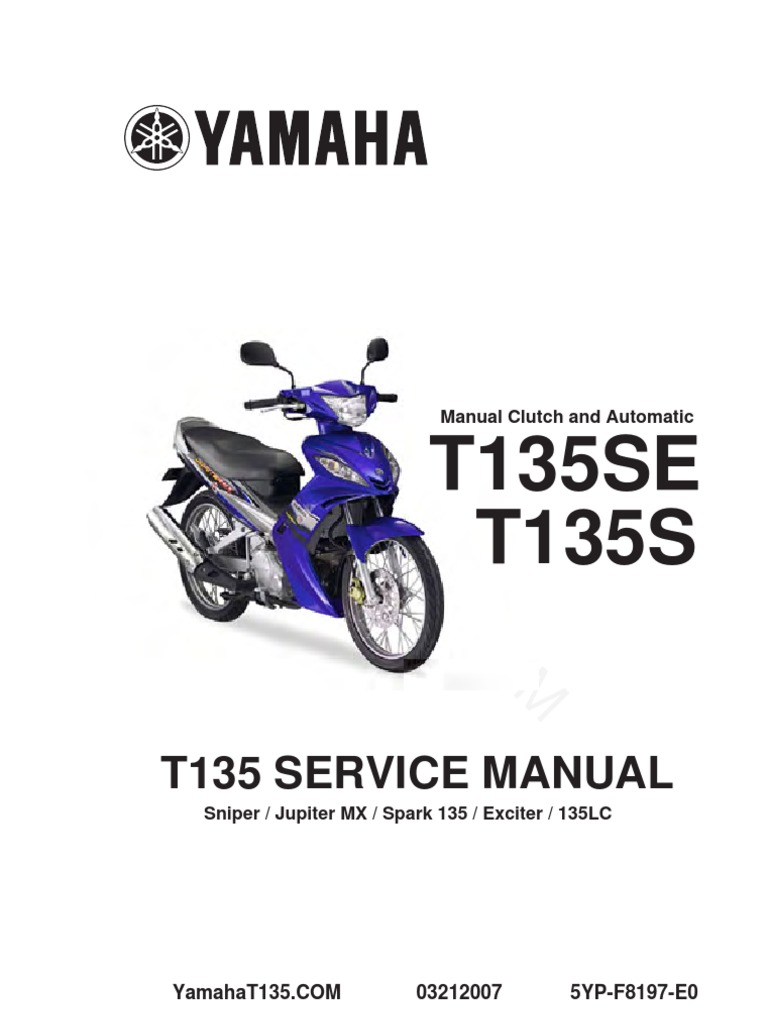 Yamaha Mx Manual 2005 Hyosung Gt 650 Wiring Diagram Array T135 Service Complete Clutch Screw Rh Scribd