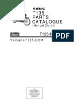 yamaha t135 hc (manual) parts catalogue