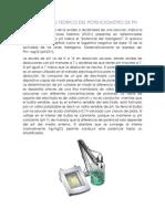 Fundamento Teorico Del Potenciometro de Ph