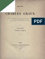 Textes Grecs - Graux (1886)