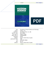 Foundations of Vacuum Science and Technology