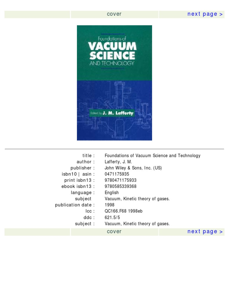 Foundations of vacuum science and technology temperature foundations of vacuum science and technology temperature pressure measurement fandeluxe Images