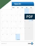 calendario-febrero-2013