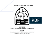 Fef Manual Area de Catequesis Familiar