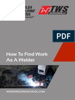 How to Find Work as a Welder