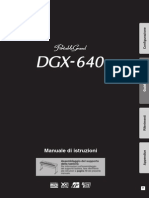Manuale Yamaha dgx640