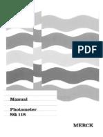 Manual Photometer SQ 118 English