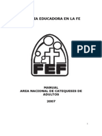 Fef Manual Area Catequesis de Adultos 2007