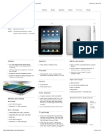 Apple iPad Technical Specifications and Accessories for iPad.