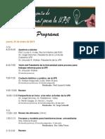Programa Simposio Reformas UPR