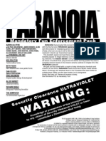 Paranoia XP - Gamemaster Screen Booklet - Mandatory Fun Enforcement Pack