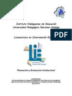 Planeacion y Evaluacion Institucional