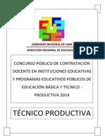 Examen Contrato Docente CETPRO 2014 DRLP
