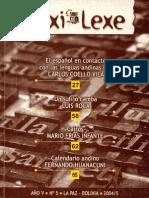 Las fuentes lexicográficas