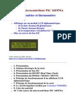Projet à microcontrôleur PIC 16F876A