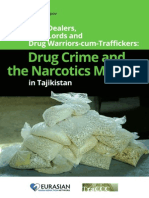 Drug Crime and the Narcotics Market in Tajikistan