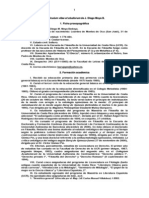 Curriculum Vitae de Juan Diego Moya