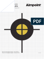 Aimpoint ZeroingTarget Micro Series M01584 A4