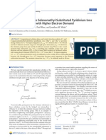 Orbital Interactions in Selenomethyl-Substituted Pyridinium Ions and Carbenium Ions with Higher Electron Demand