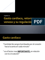 Cap. 20 Gasto Cardiaco, Retorno Venoso y Su Regulacion