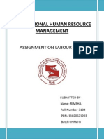 Labour Laws for IHRM