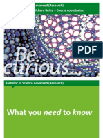 Bachelor of Science Advanced (Research) Enrolment Presentation