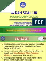 00. Bedah Soal Un 2013