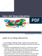 Usos Del Blog Educativo