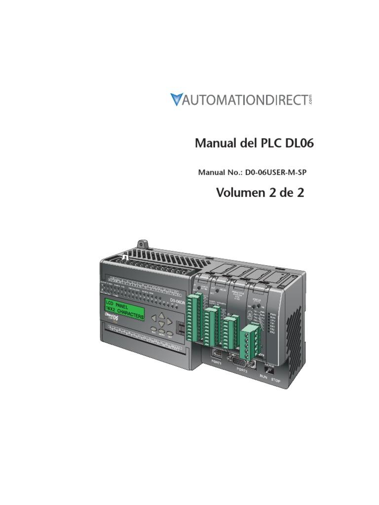 Manual Del PLC DL06 Con Instrucciones Completas