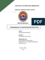Monografia de Paradigmas de La Investigacion Educativa