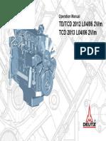 Motor Deutz Tcd20122013 2v Operations Man 3123761