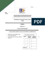 SPM Mid Year 2008 SBP Chemistry Paper 3