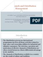 International Channels and Distribution Mgmt