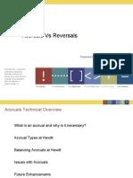 Accruals vs Reversals