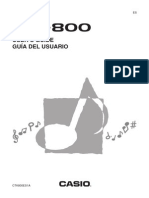 Casio CTK-800 Keyboard User Guide
