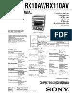 HCD-GRX10AV/HCD-RXD10AV Service Manual