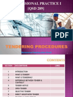Tendering Procedures