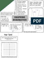 Quadratic Graphic Organizer