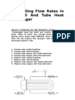 Controlling Flow Rates in a Shell and Tube Heat Exchanger