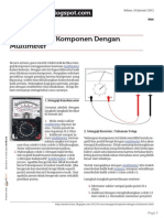 Cara Menguji Komponen Dengan Multimeter
