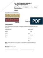 Ss FHE Board Order Form