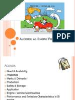 Alcohol as Engine Fuel