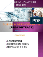 Chapter 2 - Duties & Services by QS - PRE CONTRACT