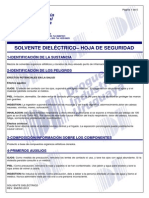 SOLVENTE DIELECTRICO- MSDS