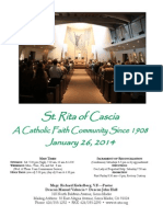 St. Rita Parish Bulletin 1/26/2014