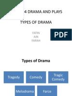 Lga 3104 Drama and Plays Types of Dramas