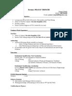 Curriculum Vitae- Pranav Tripathi