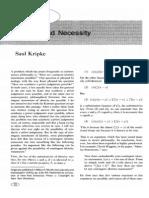 Kripke Identity and Necessity
