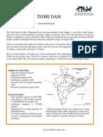 Tehri Dam Fact Sheet